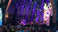 Enter Shikari performance at the rock festival The Best City.UA Stock Footage