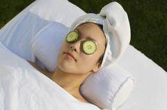 Stock Photo of Relaxed Woman During A Beauty Treatment
