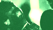Stock Video Footage of gas mask activist night vision