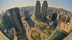City Traffic Time Lapse Korea HDR Stock Footage