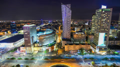 City Traffic Time Lapse 97 Warsaw Stock Footage