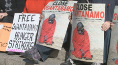 Guantanamo Bay Protest Stock Footage
