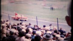 Indy 500 filmed from the stands, circa 1950s, 100 vintage film home movie Stock Footage