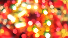 Background - Colorful - Christmas Tree Stock Footage