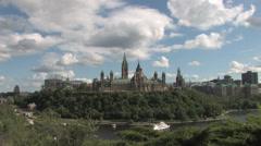 Parliament Hill in Ottawa Stock Footage