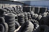 Stock Photo of Tires In Recycling Centre