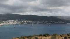 Bodrum Bay (pan shoot) Stock Footage