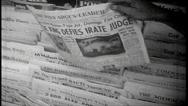 Stock Video Footage of Vintage B&W NEWSPAPER and printing press various shots