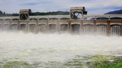 Dam Sequence - stock footage