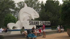 Entrance to Shamu Stadium at Seaworld Orlando Stock Footage