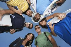 Group Of College Students In Circle - stock photo