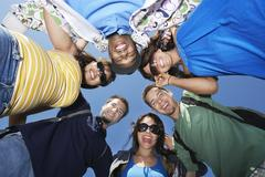 Group Of Young People In Circle - stock photo