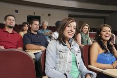 Stock Photo of Female Student With Classmates