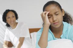 Girl Suffering From Severe Headache Stock Photos