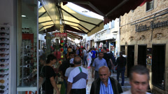Bodrum street Stock Footage