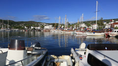 Bodrum Bay Stock Footage