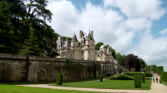 Chateau d'Usse (1) - Rigny Usse, France Stock Footage