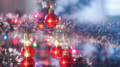Beautifully Decorated  Christmas Tree 13 Stock Footage