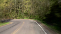Driving Windy Road - stock footage