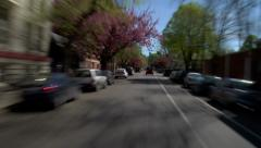 Driving Residential & Downtown Stock Footage