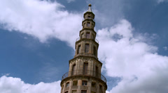 The Chanteloup Pagoda - 3 (La Pagode de Chanteloup) - Amboise France Stock Footage