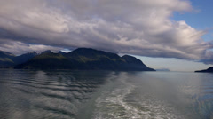 View From Alaska Marine Highway Ferry in Stephens Passage Stock Footage