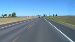 Driving Central Oregon Small Town Stock Footage