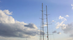 Luxurious sail ship Stock Footage