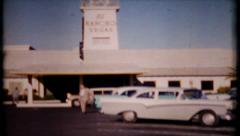 576 - street scene of El Rancho Casino in Las Vegas - vintage film home movie - stock footage