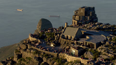 Cable car station on Table Mountain Stock Footage