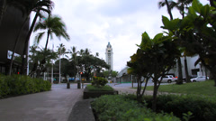 Aloha Tower Wide 1 Stock Footage