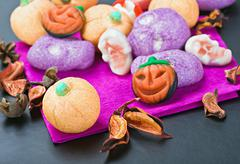 Sweets and candy to celebrate halloween Stock Photos