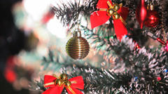 Beautifully Decorated  Christmas Tree 18 Stock Footage
