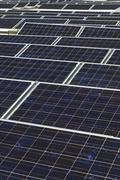 Array Of Photovoltaic Panels - stock photo