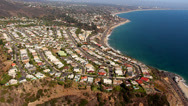 Stock Video Footage of Malibu / Pacific Coast Highway Aerial Shot Los Angeles