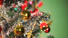 Beautifully Decorated  Christmas Tree 19 Stock Footage