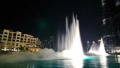 Dubai Cityscape Time Lapse Fountain Stock Footage