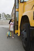 Opiskelija Boarding School Bus Kuvituskuvat