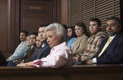 Stock Photo of Jurors Sitting In Courtroom