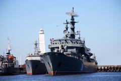 Russian warship Stock Photos