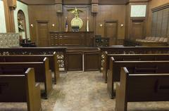 Courtroom Seating Stock Photos