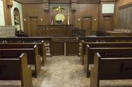 Stock Photo of Courtroom Seating