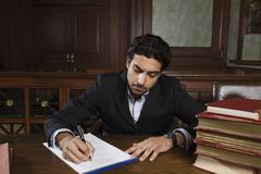Male Advocate Preparing Notes Stock Photos