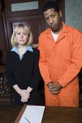 Lawyer With Criminal Awaiting Judgment Stock Photos