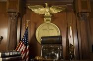 Stock Photo of Judge's Chair In Courtroom