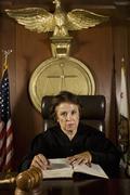 Nainen tuomari Lakiin Kirja Kuvituskuvat