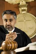 Asian Judge In The Courtroom - stock photo