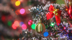 Beautifully Decorated  Christmas Tree 20 Stock Footage