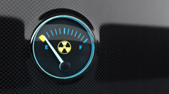 Nuclear energy indicator. - stock footage