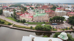 Vyborg in Russia - view from height of medieval tower of St. Olaf Stock Footage